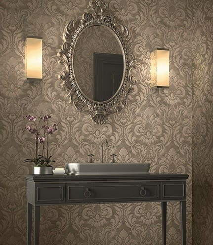 Ornament Barock Taupe - Rasch Vlies-Tapete