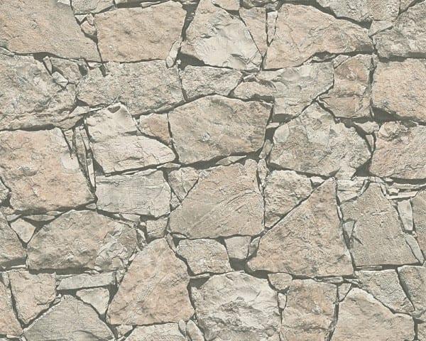 Mauer Grau Steinoptik- A.S. Creation Vlies -Tapete