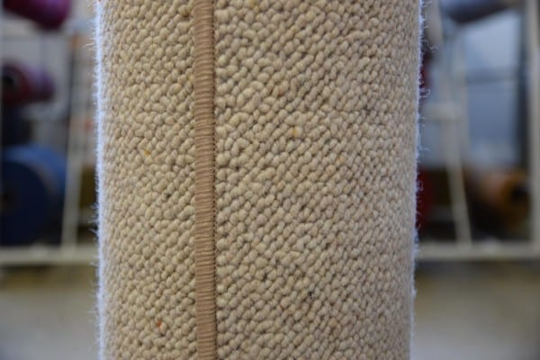 Creme Schurwoll-Teppich 1,2m x 2,6m gekettelt